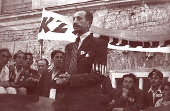 Wiesenthal als Redner