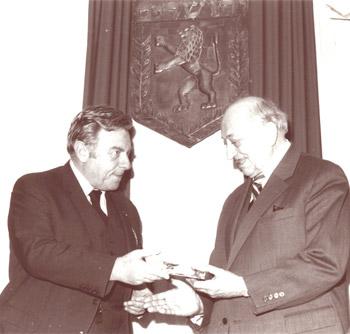 Überreichung der Jerusalem-Medaille